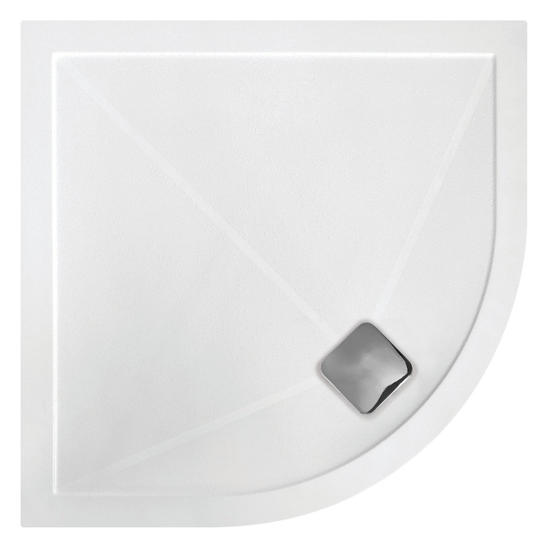 RefleXion Anti-Slip Ultra-Slim 1200x900mm Offset Quadrant Tray Right