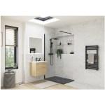 RefleXion 1400x800mm Slate Effect Ultra-Slim Shower Tray & Waste