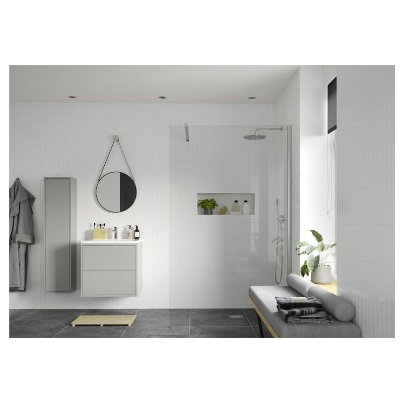 Reflexion Iconix Wetroom Panel & Support Bar 1000mm