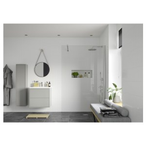 Reflexion Iconix Wetroom Panel & Support Bar 1400mm