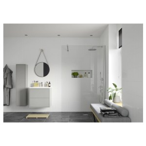 Reflexion Iconix Wetroom Panel & Support Bar 760mm