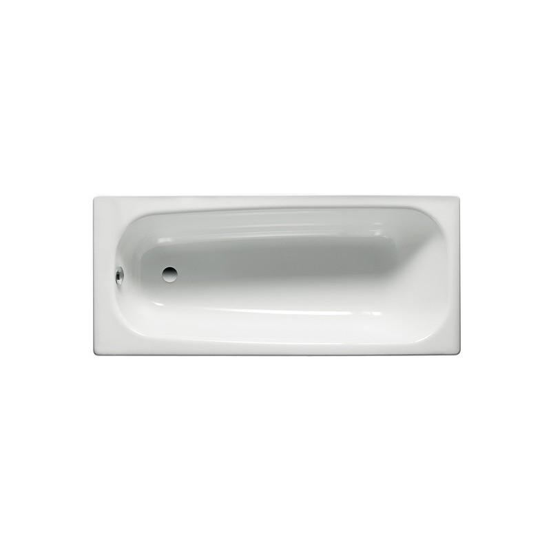 Roca Contesa Steel Bath 1700x700mm No Taphole Anti Slip White