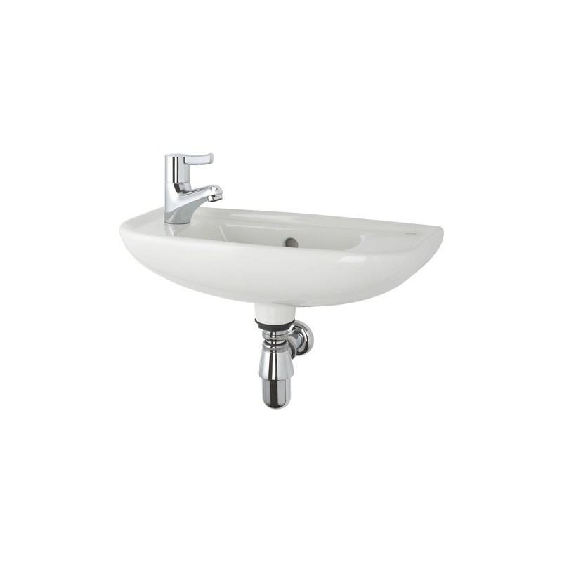Roca Access Wall Hung Basin Left Hand Taphole White