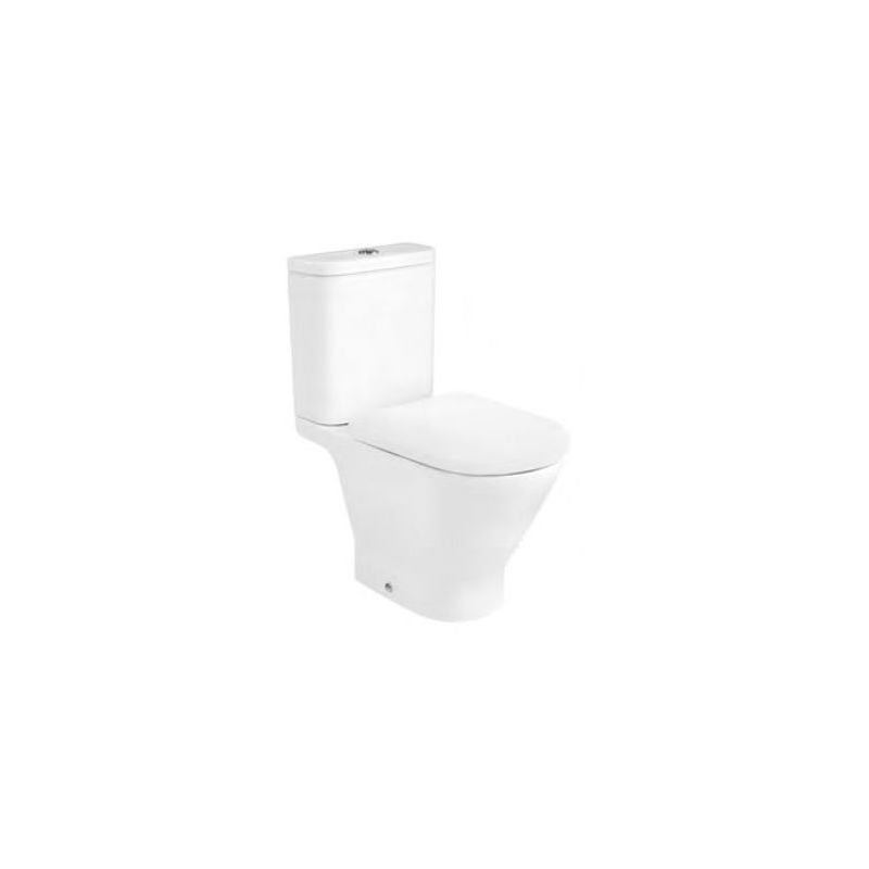 Roca The Gap Round Rimless Close Coupled Toilet Pack