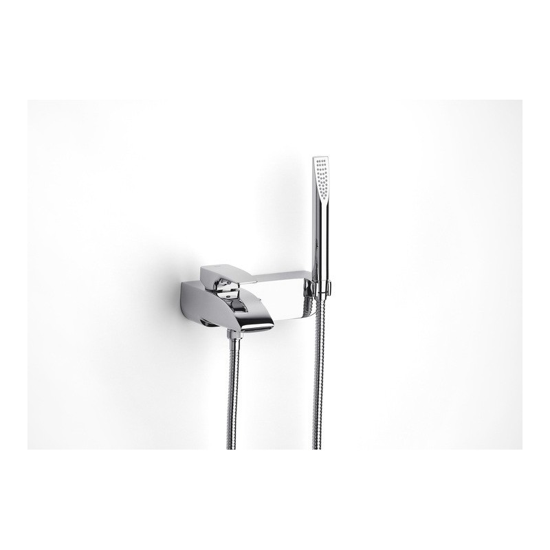 Roca Thesis Wall Mounted Bath Shower Mixer with Handset