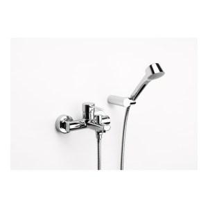 Roca Targa Wall Mounted Bath Shower Mixer & Kit Chrome