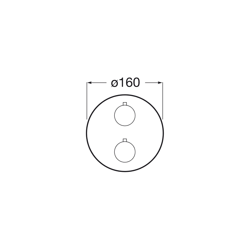 Roca T1000 Concealed Thermostatic Bath OR Shower Mixer