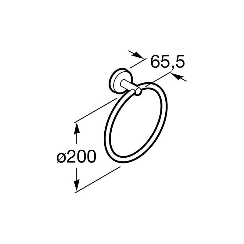 Roca Twin Towel Ring