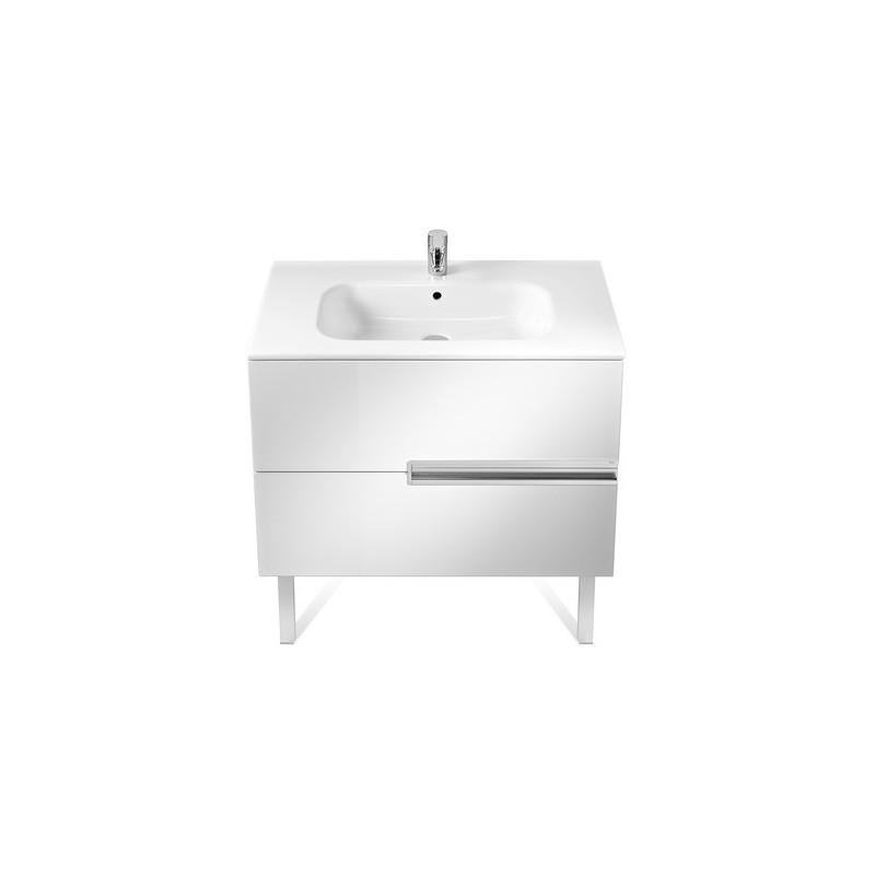 Roca Victoria-N Unik 800mm 2 Drawer Unit & Basin Gloss White