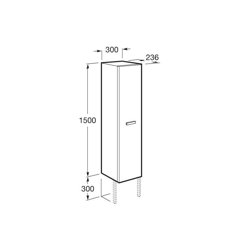 Roca Victoria Basic 300x1500mm Reversible Column Unit Birch
