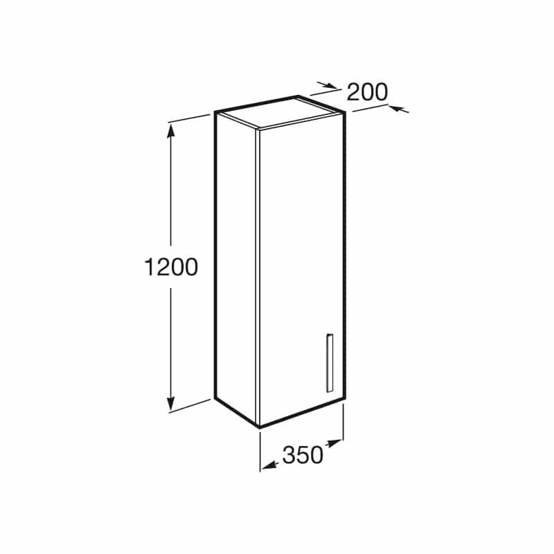 Roca Prisma Column Unit 1200mm Gloss White