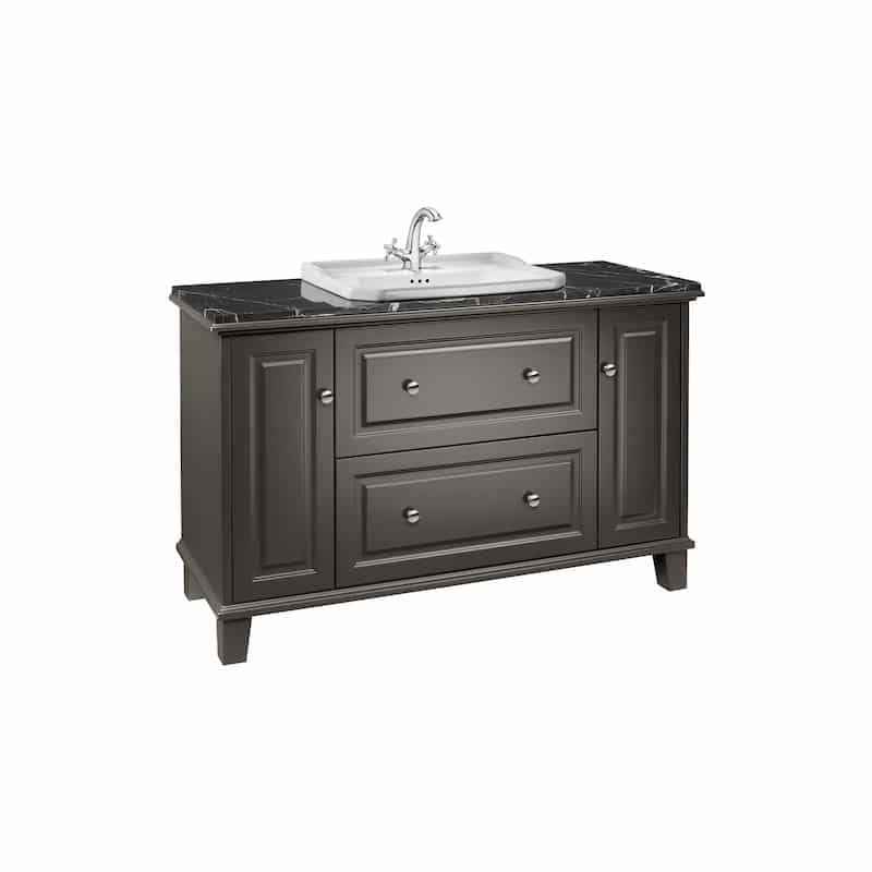 Roca Carmen 1300mm Unit with Drawers & Doors Anthracite Satin