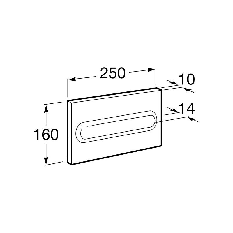 Roca PL1 Flush Plate Operating Panel Matt Chrome