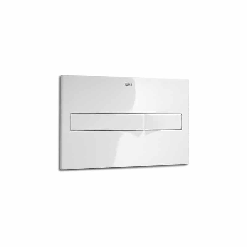 Roca PL2 In-Wall Dual Flush Operating Plate White