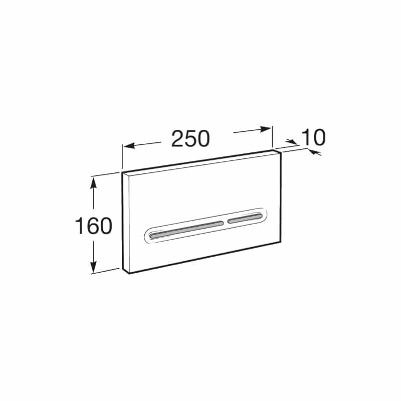 Roca PL5 Dual Flush Operating Plate Chrome