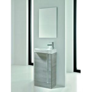 Royo Elegance Floorstanding Cloakroom Unit Pack Sandy Grey