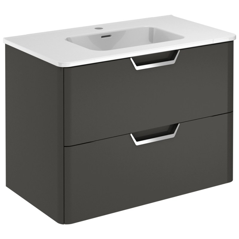 Royo Life 800mm Anthracite 2 Drawer Wall Unit