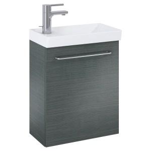 Royo Aquatrend Wall Vanity Unit & Basin 450mm 1 Door Grey