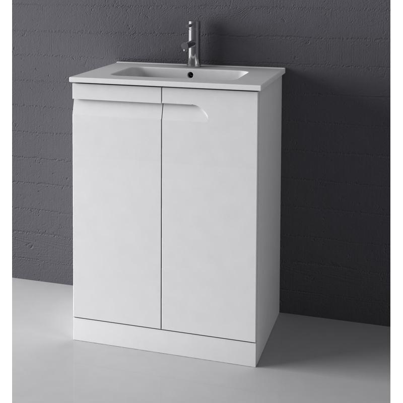Royo Vitale 600mm Floor Standing Unit Gloss White