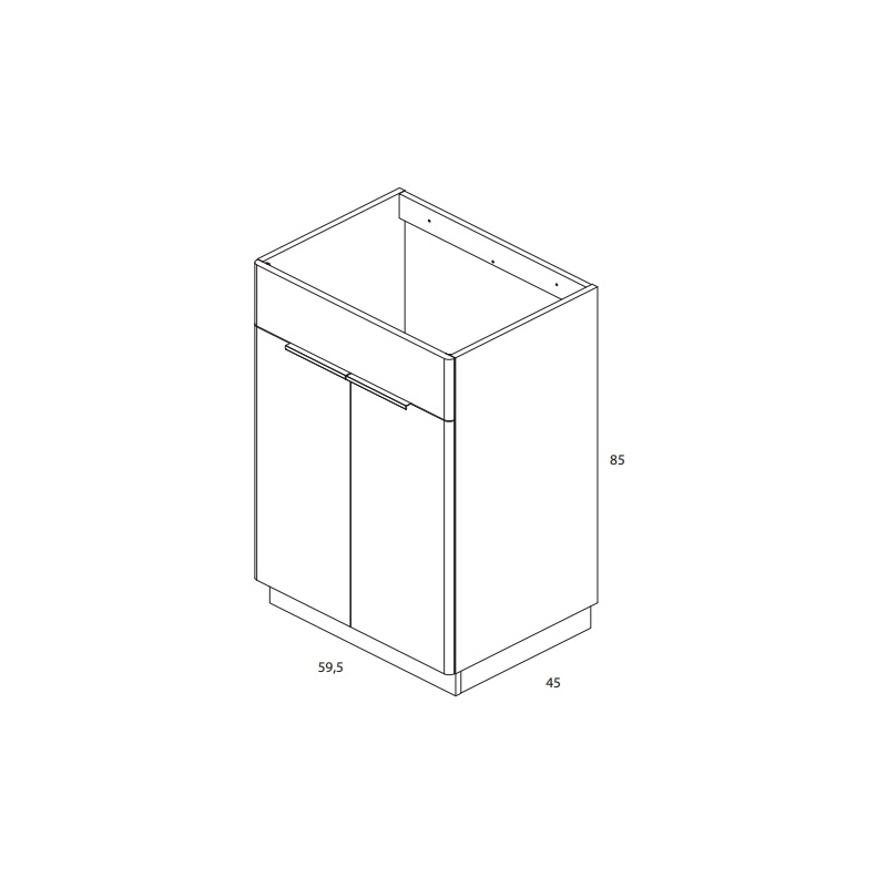 Royo Silk 600mm Floorstanding Unit & Basin Oak