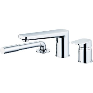 Sottini Turano 3 Hole Bath Shower Mixer with Spout