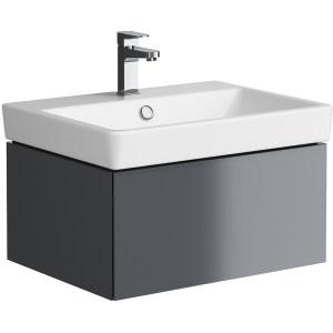 Synergy Berg 600mm Grey Washbasin Cabinet