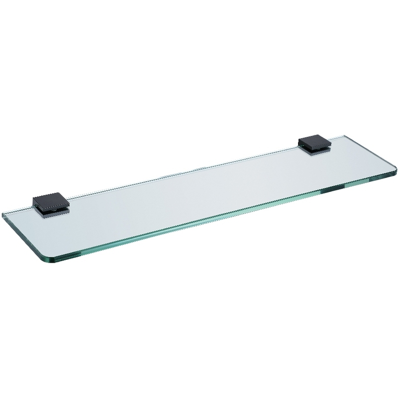 Synergy Stella Black Glass Shelf