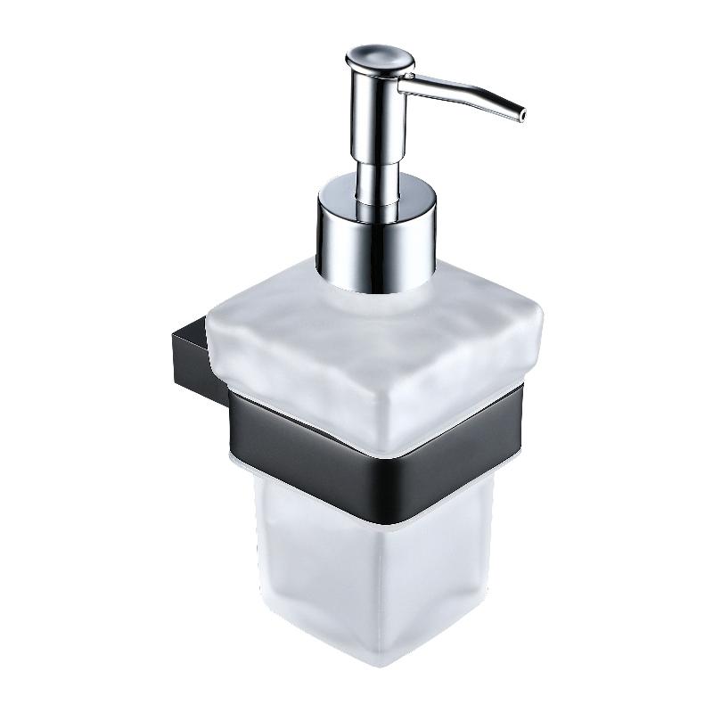 Synergy Stella Black Soap Dispenser & Holder