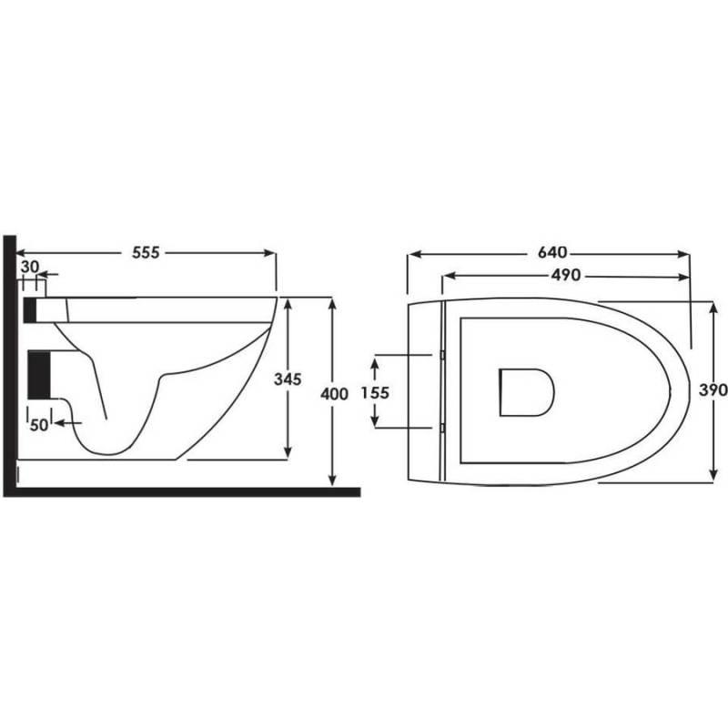 Synergy Lyon Wall Hung WC Pan