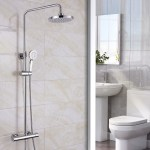 Synergy Round Cool Touch Riser Shower System