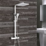 Synergy Square Cool Touch Riser Shower