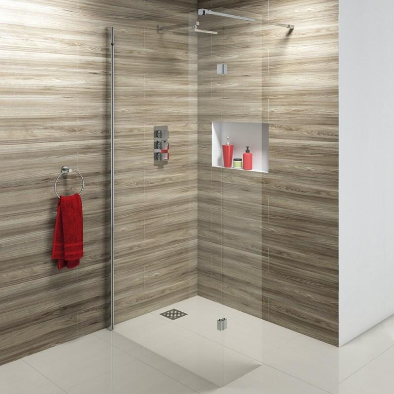 Synergy Vodas 10 900 x 2000mm Clear Wetroom Panel