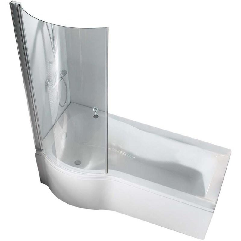 Synergy Vodas 6 P Shaped Bath Screen