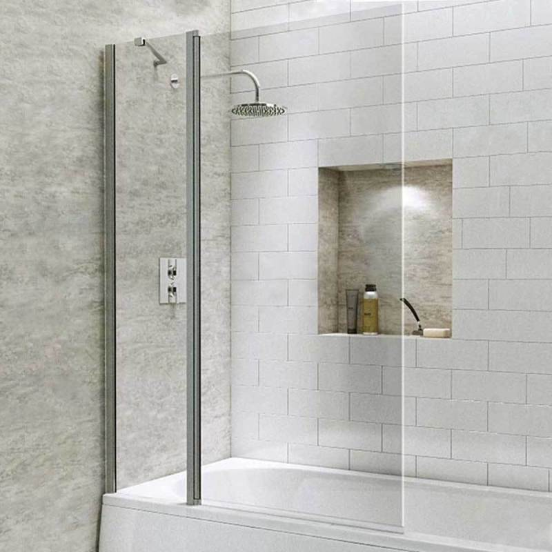 Synergy Vodas 6 Square Bath Screen with Extended Fixed Panel