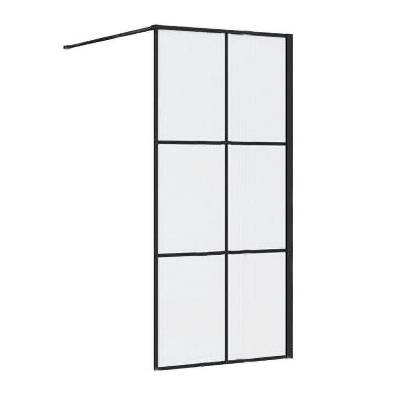 Synergy Vodas 8 Stella 800mm Black Wetroom Panel
