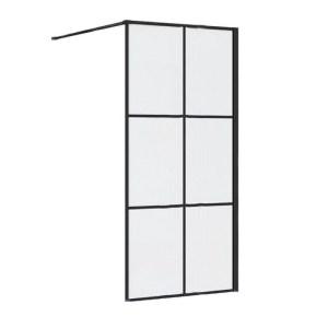 Synergy Vodas 8 Stella 1200mm Black Wetroom Panel