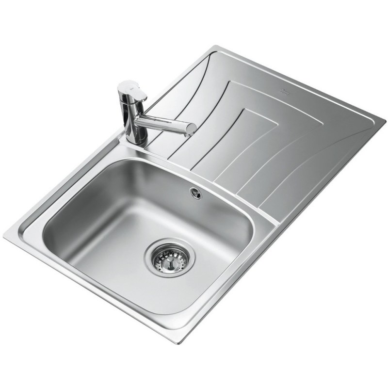 Teka Universo 79 1B & Drainer Compact Inset Sink Stainless Steel