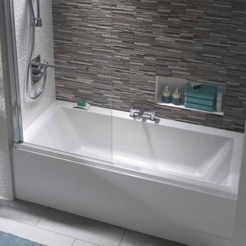 Twyford Athena Bath 1700x750mm 2 Tap Holes