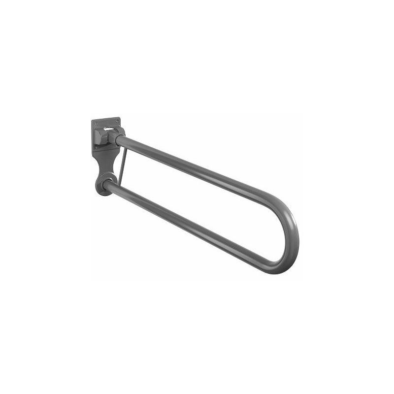 Twyford Avalon Hinged Support Rail (No Toilet Roll Holder) Grey