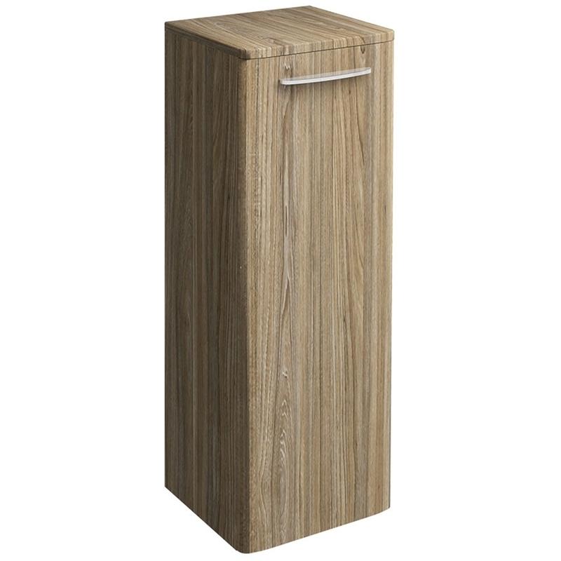 Twyford E100 Side Cabinet Large Grey Ash Wood