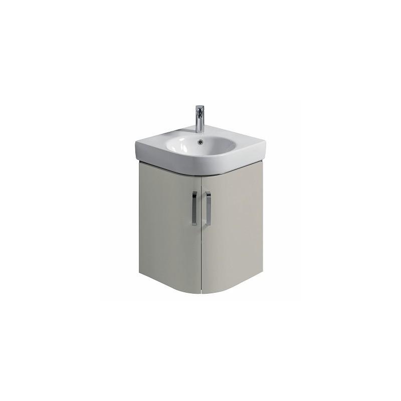 Twyford E200 Vanity Unit for Corner Handrinse Basin 500 Grey