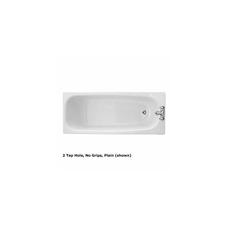 Twyford Neptune Bath 1700x700 No Tap Slip Resist No Grips