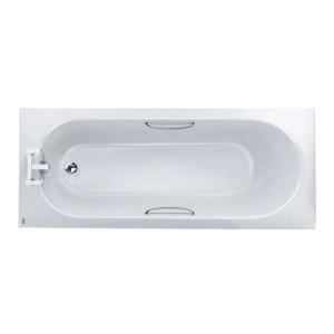 Twyford Opal 1700x700mm Water Saving Bath 2TH Grips Anti Slip