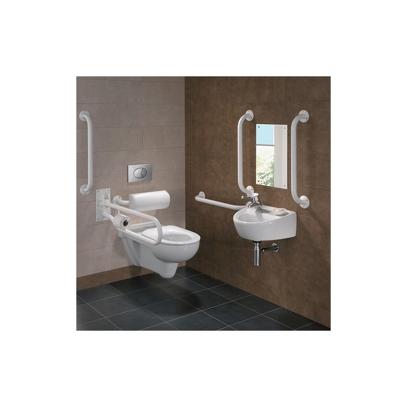 Twyford Doc M Rimless Wall Hung Pack, Left Hand, White