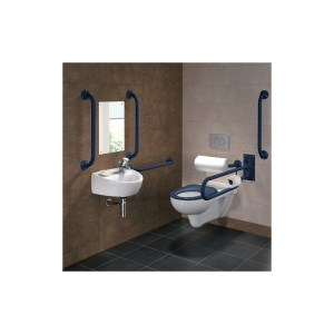 Twyford Doc M Rimless Wall Hung Pack, Right Hand, Blue