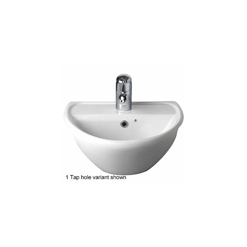 Twyford Sola Optimise Semi-Recessed Basin 450x380 1 Tap