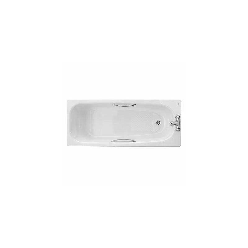 Twyford Shallow Bath 1500x700 2 Tap Slip Resist with Grips
