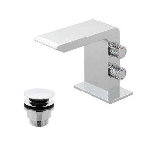 Vado Omika Mini Mono Basin Mixer with Universal Waste