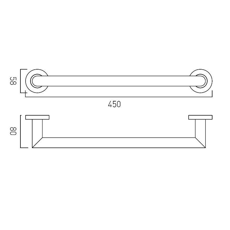 Vado Spa Grab or Towel Rail 450mm