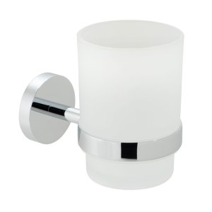Vado Spa Frosted Glass Tumbler & Holder